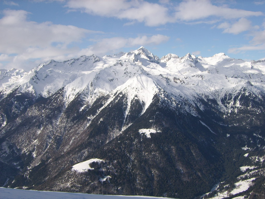 Cavria in Winter by Giampiero Ambrosi as seen from Pinzolo ski area